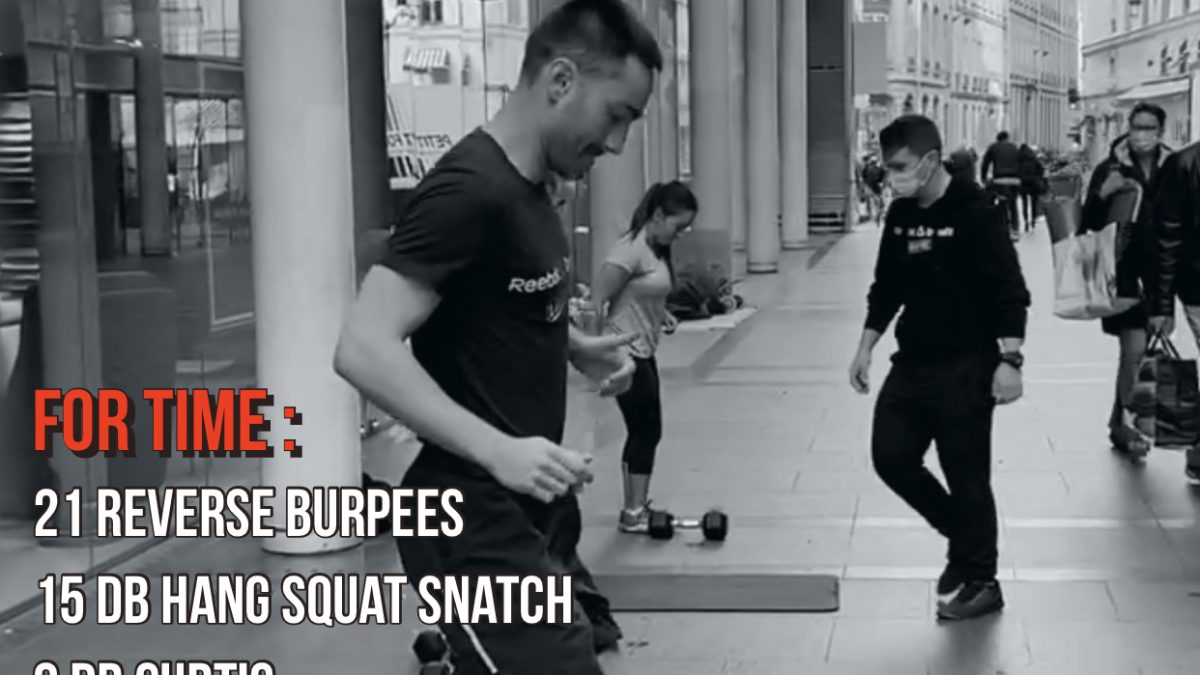 Curtis Hang Squat Snatch Reverse Burpee