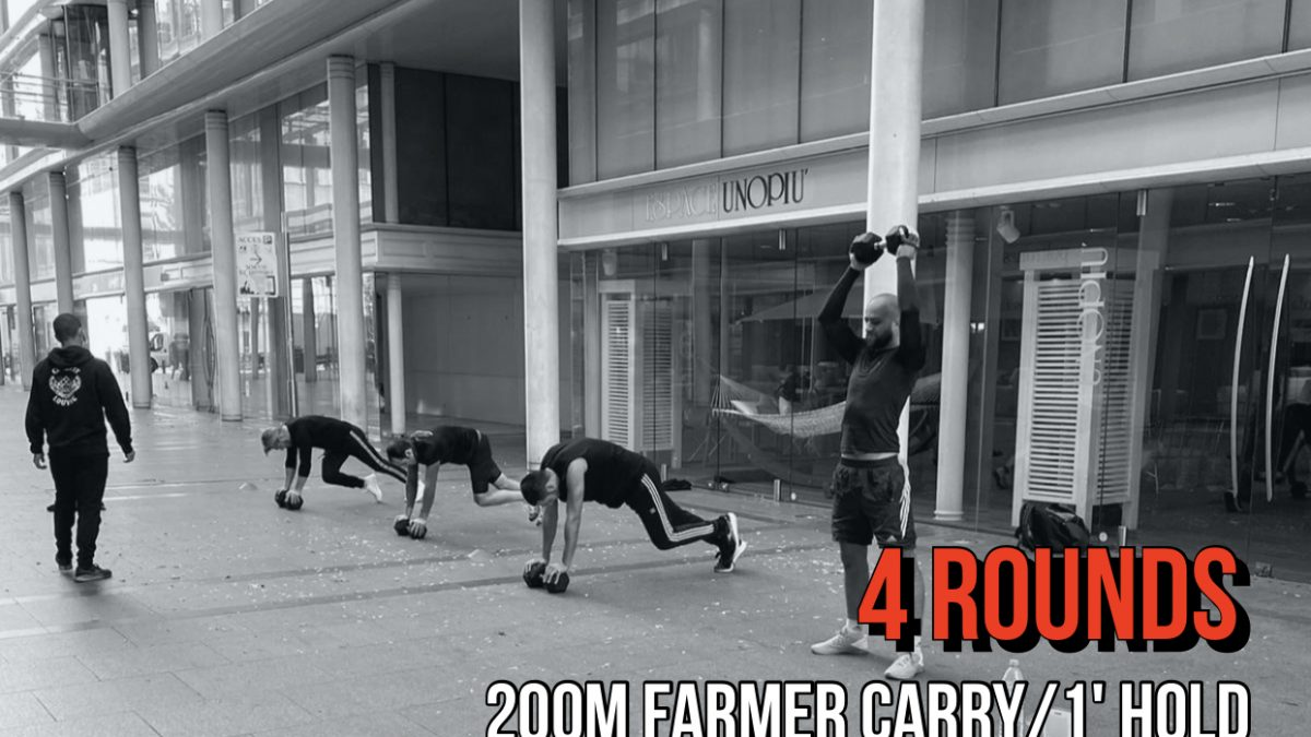 Farmer Carry Hang Clean Rowing