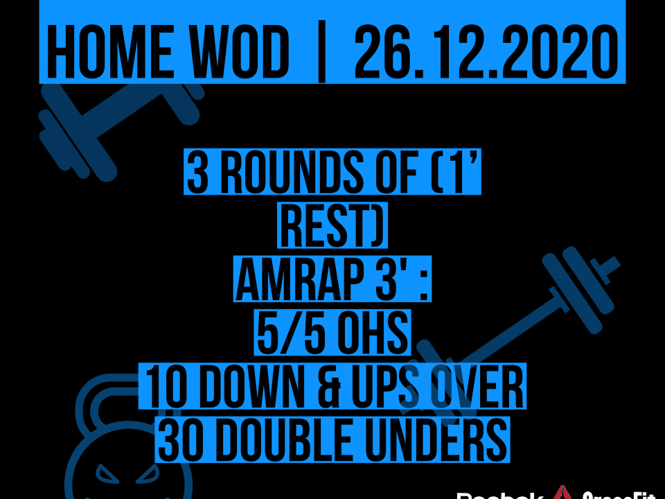 Up&Down Over Double Under OHS AMRAP Workout The Chief