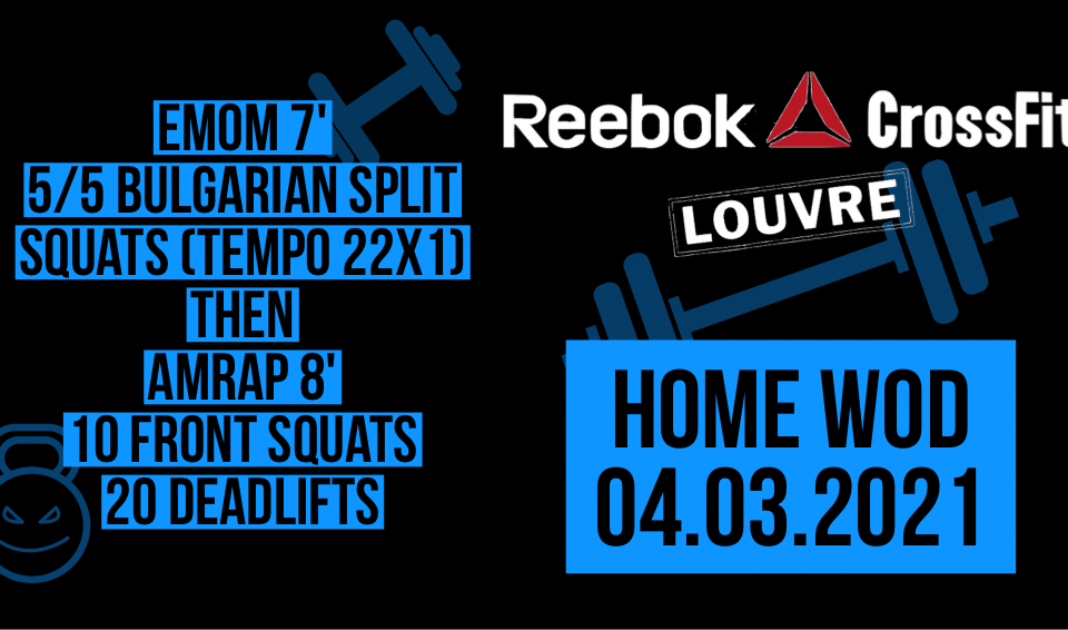 EMOM AMRAP Bulgarian Split Squat Front Squat Deadlift