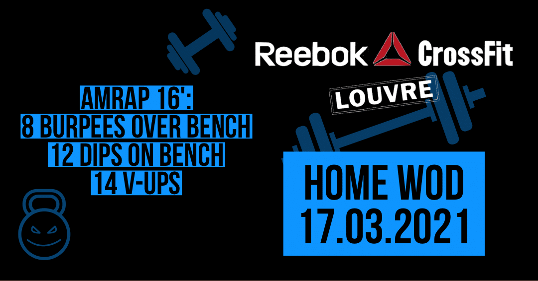 Burpee Over Bench V-Up Dips AMRAP